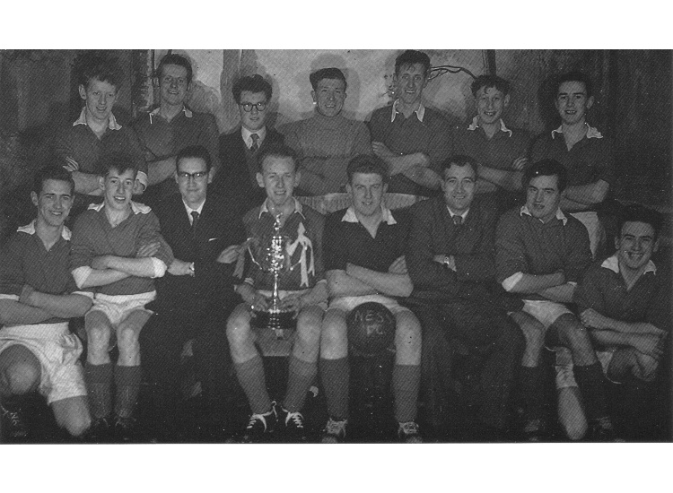 Ness United FC 1958 pictured with the Madrid Cup