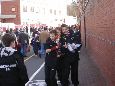Villa v Sunderland March 2008 - A few of the boys having a lark!
