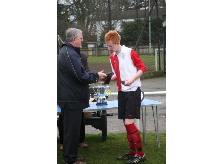 Jamieson collecting the runners-up trophy