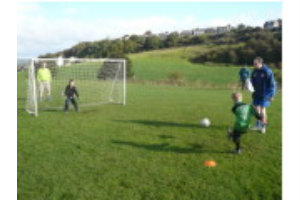 Keeper v Keeper - Ben sends one high into the net