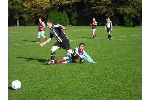 Danny tackling fat Warlingham player