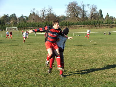 Mega in action in the 2-0 win at Taplow 09/02/08: Left Click