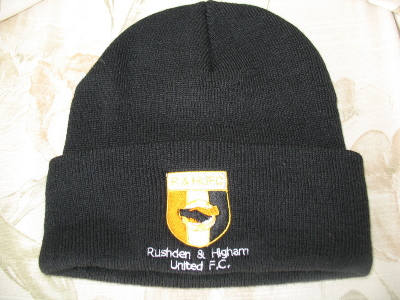 R&amp;HU Black Bobble Hat - One Size Fits All