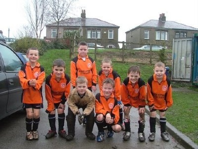 Ross Valley U8`s after a rain drenched game