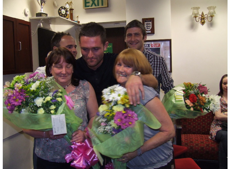 Winnie and Ann, the class catering ladies, were presented with bouquets to say thank you for their fantastic work throughout the season.