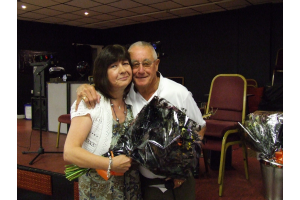 Christine Tray with club President John Atkinson