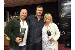 Assistant Manager Stuart Niven with Dean & Sue Walker