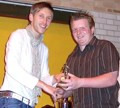 Presentation night 2007/08. Radio Invicta&amp;#39;s Ben Mundy (left)attended the venue to present the club trophies. 