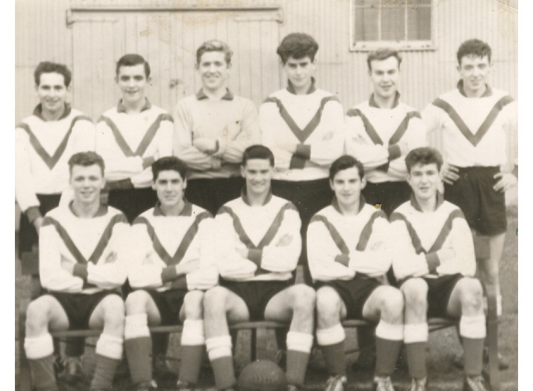 Jim McAnally(club secretary,s) 1957 team