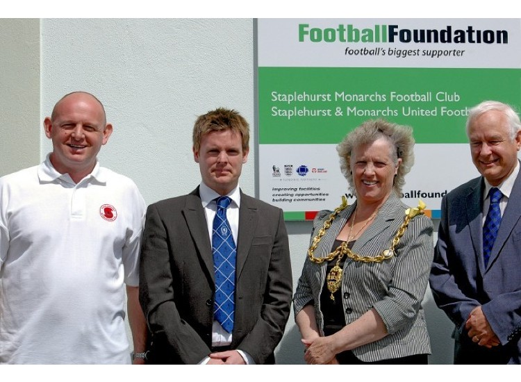 Inspiration chairman, Nigel Best, with Paul Dolan (KCFA) and the Mayor.