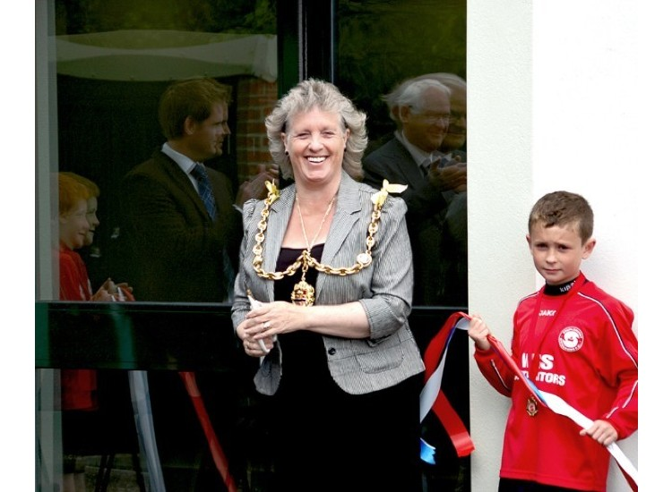 Mayor of Maidstone, Denise Joy, declares the Pavillion open!