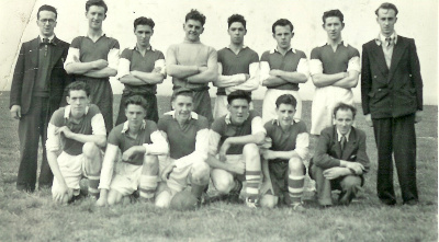 A photograph taken in the early 1950s showing John Tulloch on the left of the back row and his brother Maurice Tulloch on the right both sons of James Tulloch the founder.