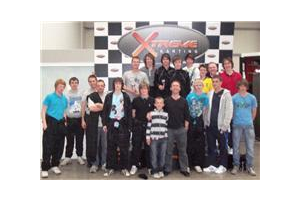 The full squad at Xtreme Karting 2011
