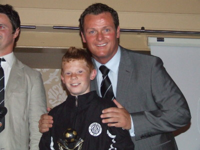 Player of the Year Cormac Deery with Jim Magilton