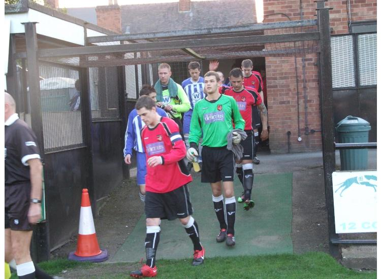 Niall leads the players out