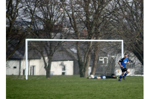 Nick Hubber puts the ball in the net