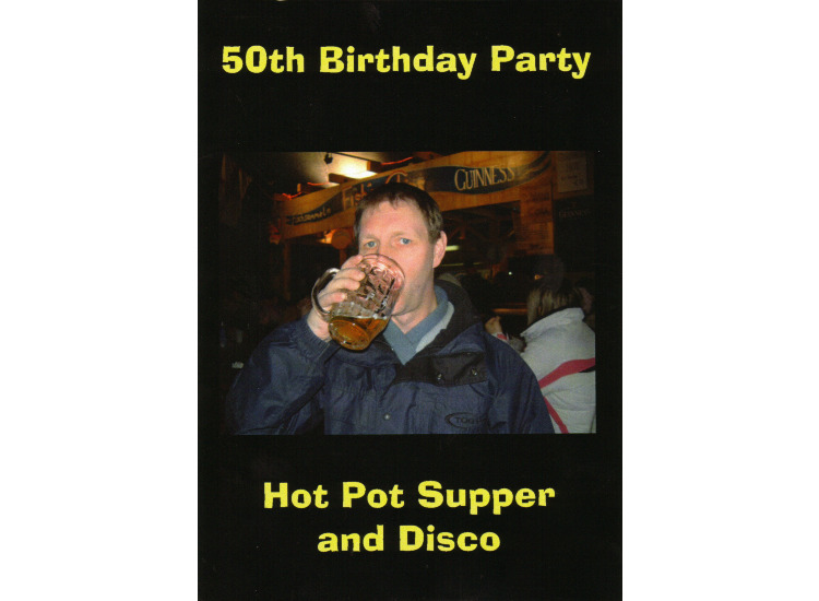 Kevin Murphy 50Th Birthday Invitation