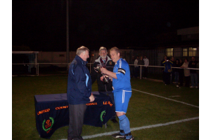 CAPTAIN PAUL BYERS RECEIVING CUP