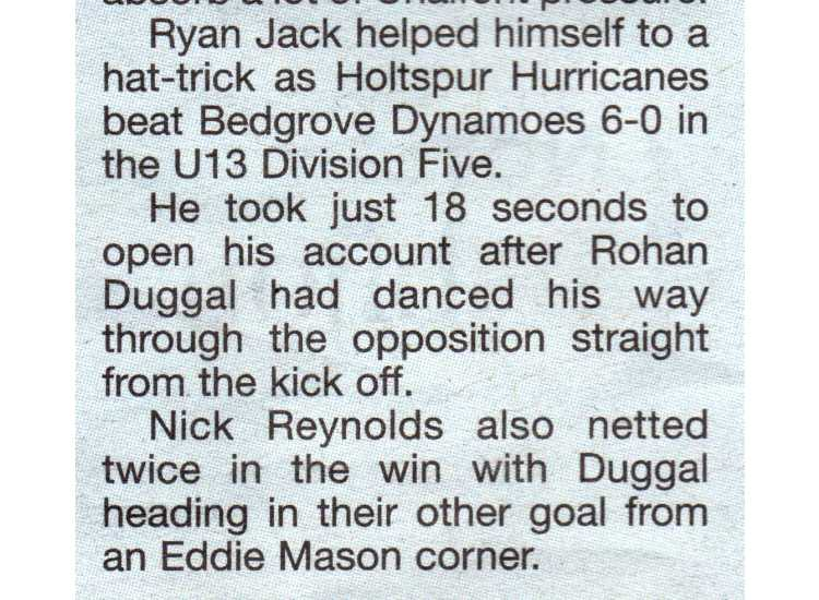 2009 - Bedgrove Dynamos (H)