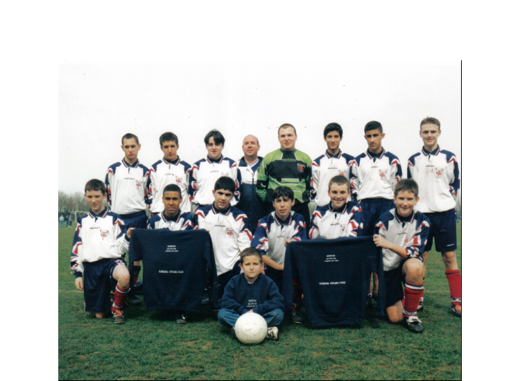 Season 2002 with Manager Martin Finch. Thanks to Robert Pearson. Little Boy in front now plays in the U14's (2009-2010)