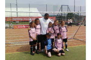 Wantage Girls Under 10s (2009-10) meet John Barnes at Swindon 6-a-side.