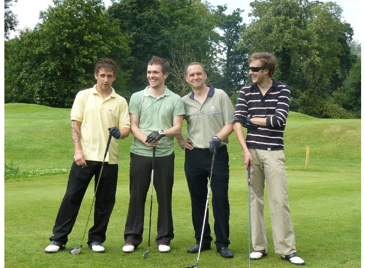 2008 - Nick Thomas , Paul Woods , Mike Derbyshire , Tom Kenny