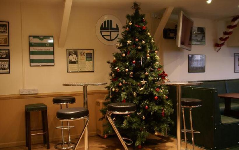 Christmas in the bar area