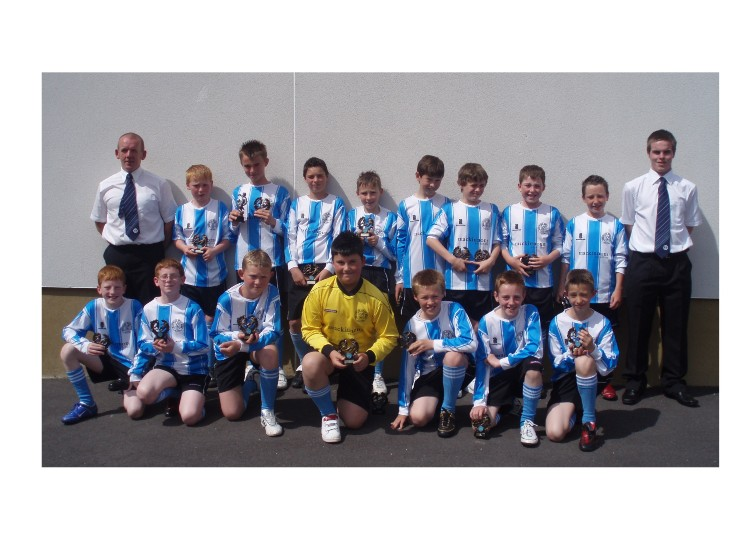 Westdyke B.C under 12's  2007/2008 with coaches