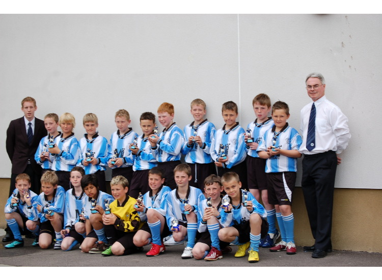 Westdyke B.C under 11's 2009/2010 with coaches