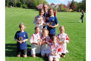 Girls Squad - Forres Tournament Winners 2010 - Lauren, Meg, Billy, India, Sarah, Emma R & Emma W