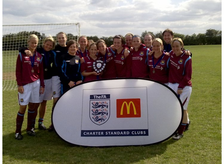 First Team squad winning the Essex FA Charter Standard Tournament