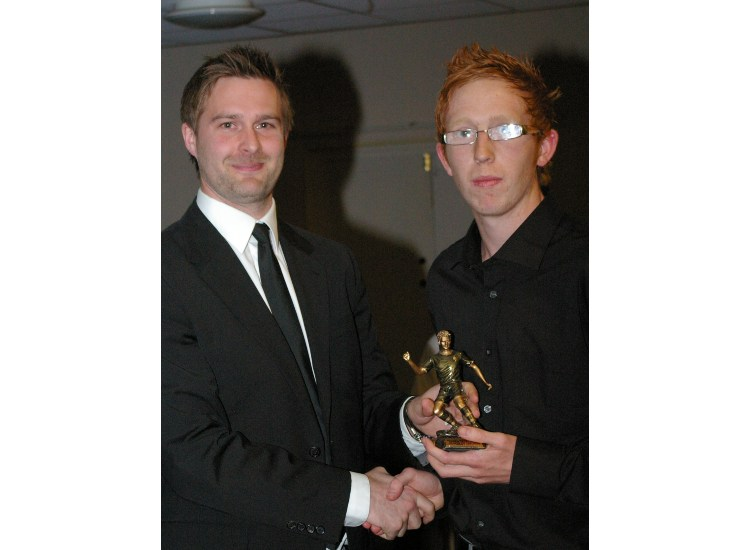 U 19 PLAYERS PLAYER OF THE YEAR JOSH EVANS, Awarded by Ryan Northmore