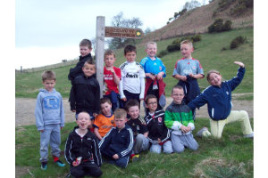 Members of YCC and FC who climbed Roseberry Topping to Raise Funds for Tracksuits