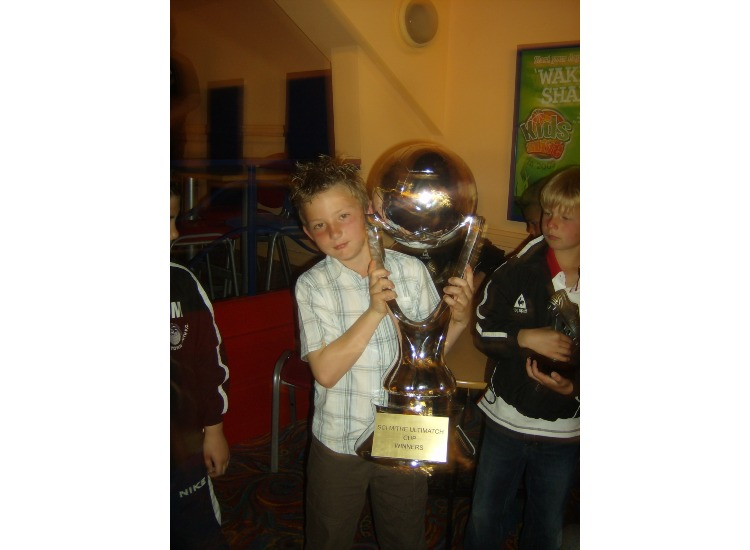 Daniel Hawkins - with the SCi Winners Trophy