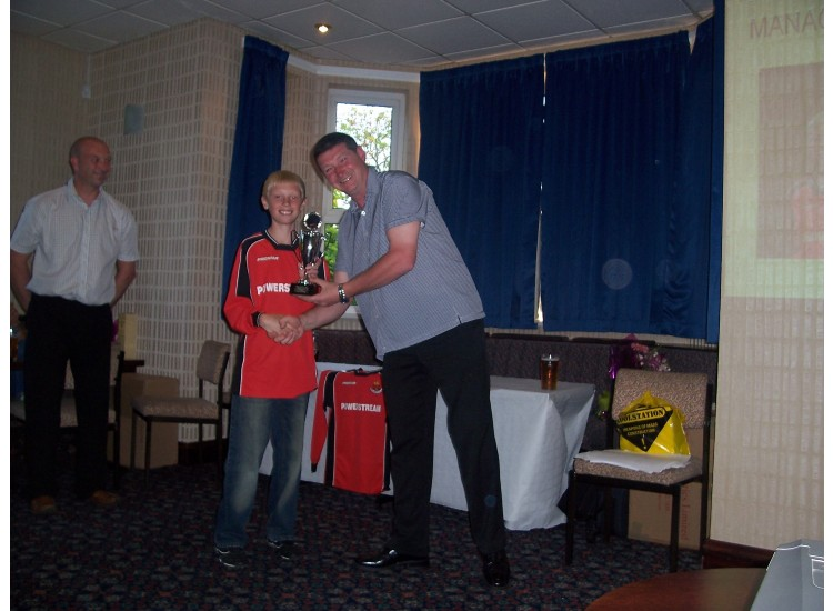 Managers player Liam Alexander