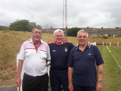 The three ugly sisters - a great help to the club. Richard Poole, Alan Clark and Bill Doran (Kitman)